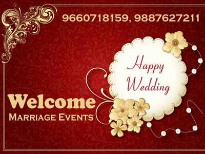 Welcome-marriage event